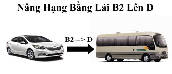 Nâng hạng bằng lái xe B2 lên D