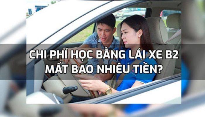 học phí học bằng lái xe b2 bao nhiêu tiền